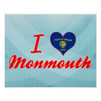 I Love Monmouth, Oregon Poster
