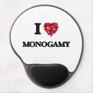 I Love Monogamy Gel Mouse Pad