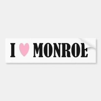 I LOVE MONROE BUMPER STICKER