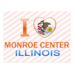 I Love Monroe Center, IL Postcard