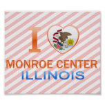 I Love Monroe Center, IL Poster