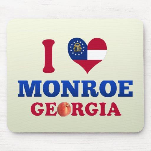 I Love Monroe, Georgia Mouse Pad
