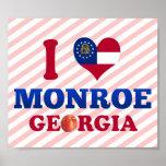 I Love Monroe, Georgia Poster