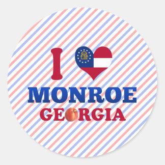 I Love Monroe, Georgia Classic Round Sticker