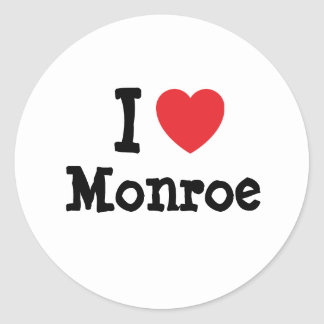 I love Monroe heart custom personalized Stickers