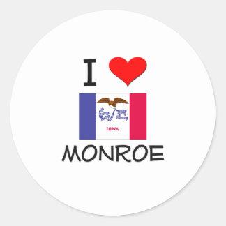 I Love MONROE Iowa Stickers