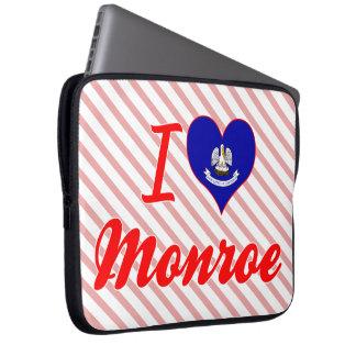 I Love Monroe, Louisiana Laptop Computer Sleeve