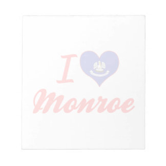 I Love Monroe, Louisiana Memo Notepads