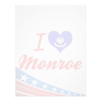 I Love Monroe, Louisiana Personalized Letterhead