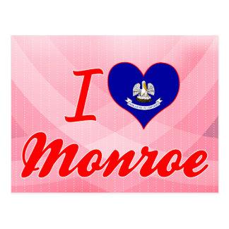 I Love Monroe, Louisiana Postcard
