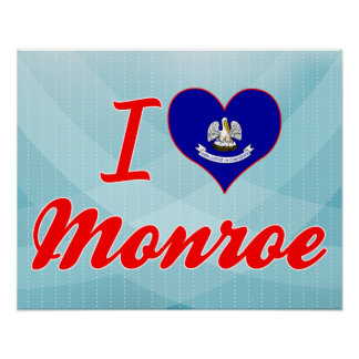 I Love Monroe, Louisiana Print