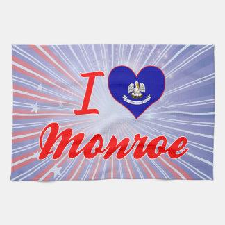 I Love Monroe, Louisiana Towels