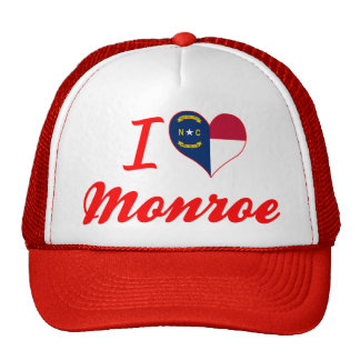 I Love Monroe, North Carolina Trucker Hat