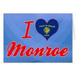 I Love Monroe, Oregon Greeting Card