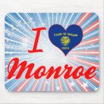I Love Monroe, Oregon Mouse Pad