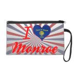 I Love Monroe, Oregon Wristlet Clutch