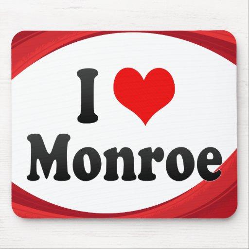 I Love Monroe, United States Mousepad