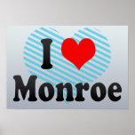 I Love Monroe, United States Poster