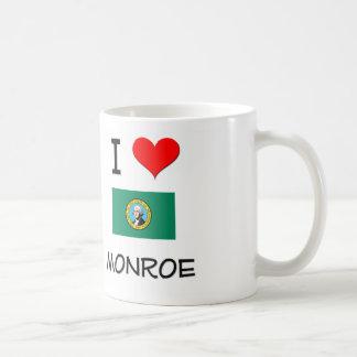I Love Monroe Washington Classic White Coffee Mug