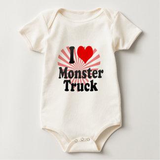 I love Monster Truck Baby Bodysuit