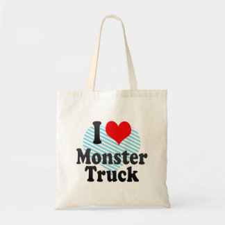 I love Monster Truck Canvas Bags