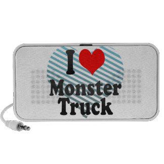I love Monster Truck Notebook Speaker