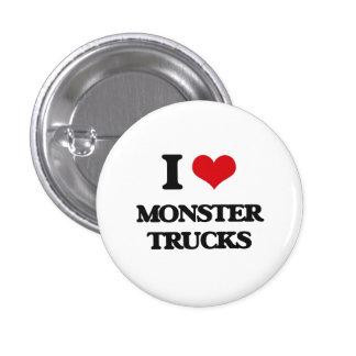 I love Monster Trucks 1 Inch Round Button