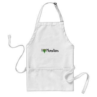I Love Monsters Adult Apron