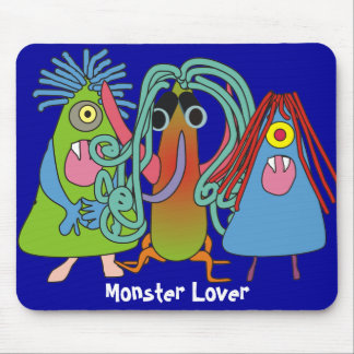 """""""I Love Monsters"""" Gifts Mouse Pad"""