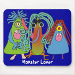 """""""I Love Monsters"""" Gifts Mouse Pads"""
