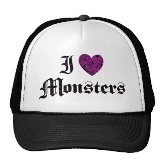 I Love Monsters Mesh Hats