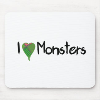 I Love Monsters Mouse Pad
