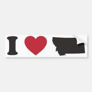 I Love Montana Bumper Sticker