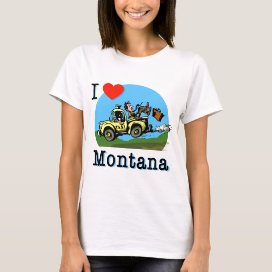 I Love Montana Country Taxi T-Shirt