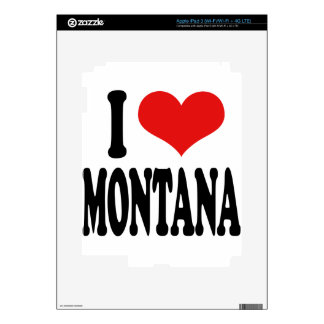 I Love Montana Decals For iPad 3