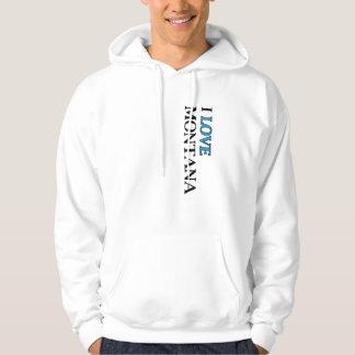 I Love Montana Design Hooded Pullover