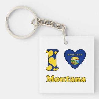 I love Montana Keychain