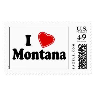 I Love Montana Stamps