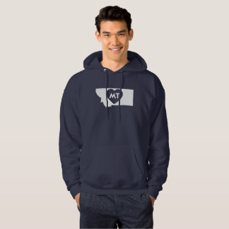 I Love Montana State Men's Hooded Sweatshirt