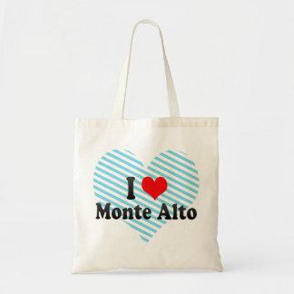 I Love Monte Alto, Brazil Canvas Bags
