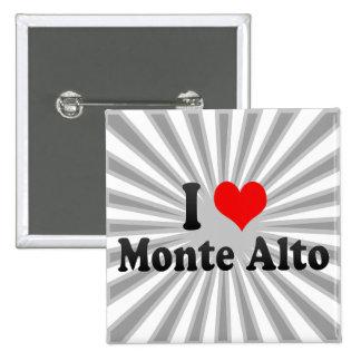 I Love Monte Alto, Brazil Button