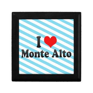I Love Monte Alto, Brazil Trinket Boxes