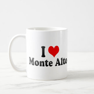 I Love Monte Alto, Brazil Coffee Mugs