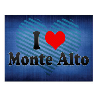 I Love Monte Alto, Brazil Post Cards