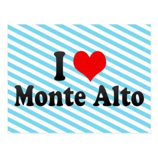 I Love Monte Alto, Brazil Postcard
