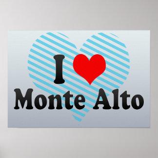 I Love Monte Alto, Brazil Poster