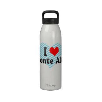 I Love Monte Alto, Brazil Water Bottle