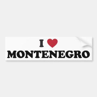 I Love Montenegro Car Bumper Sticker