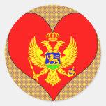 I Love Montenegro Classic Round Sticker