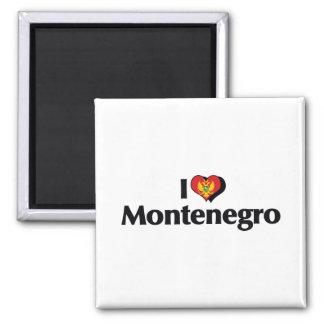 I Love Montenegro Flag Magnet